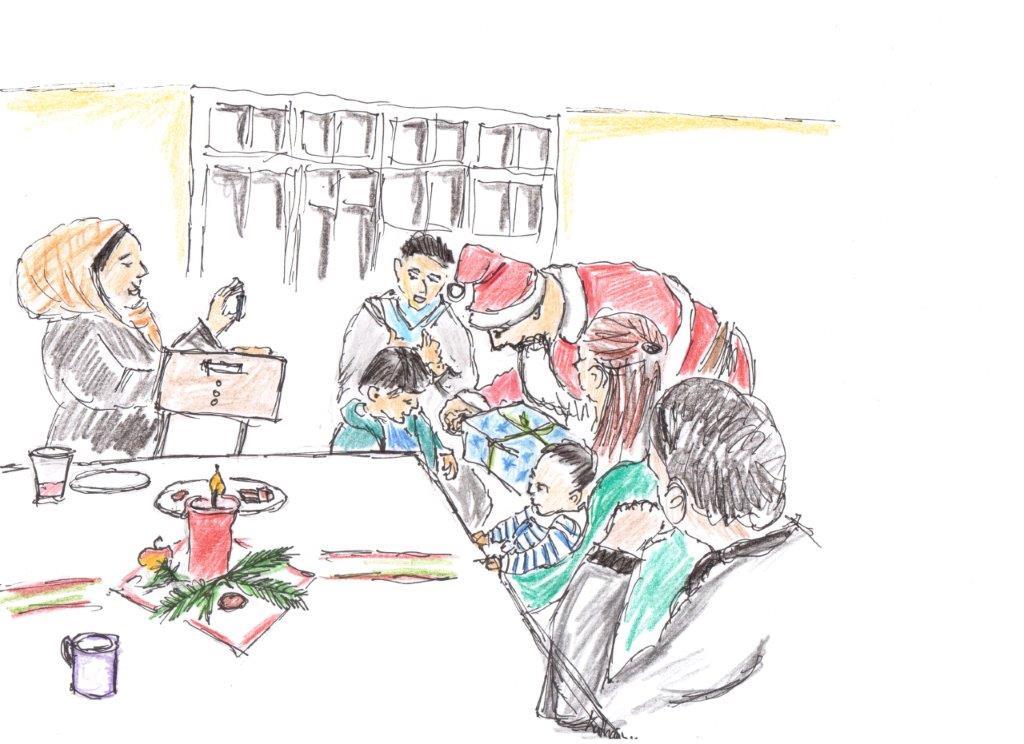 weihnachten steht vor der t r fl chtlingsinitiative. Black Bedroom Furniture Sets. Home Design Ideas
